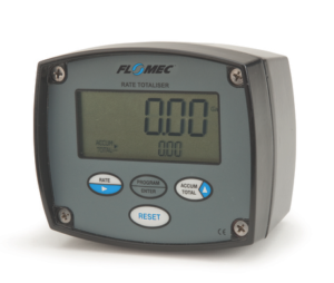 FLOMEC RATE TOTALISER AND FACIA PROTECTOR, ALI HOUSING, METER MOUNT