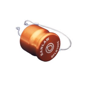 Banlaw Flush Face BPL Receiver Cap, Size 10, Evac Series, ORANGE Coloured
