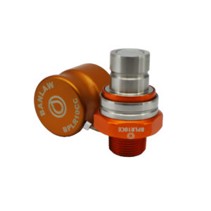 Banlaw Flush Face BPL Receiver, 1″ NPT, ORANGE Coloured