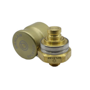 Banlaw Flush Face BPL Receiver, 1/2″ NPT, BRASS Coloured