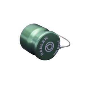 Banlaw Flush Face BPL Receiver Cap, Size 5, Evac Series, GREEN Coloured