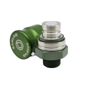 Banlaw Flush Face BPL Receiver, 1″ NPT, GREEN Coloured