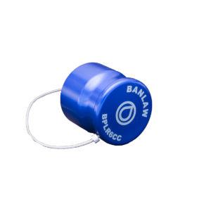 Banlaw Flush Face BPL Receiver Cap, Size 6, Evac Series, BLUE Coloured