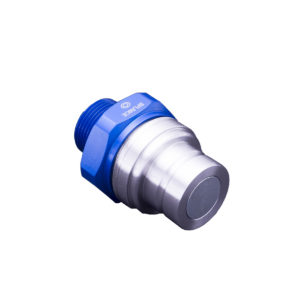 Banlaw Flush Face BPL Receiver, 1″ NPT, BLUE Coloured