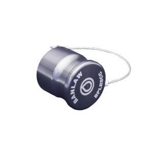 Banlaw Flush Face BPL Receiver Cap, Size 8, Evac Series, PLATINUM Coloured