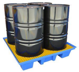 4x Drum Bunded Spill Pallet