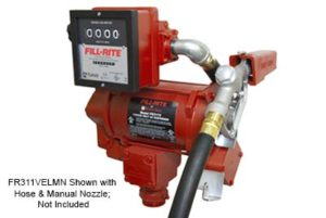 240 Volt AC Hi-Flow Pump with Hose, Auto Nozzle & Mechanical Flowmeter