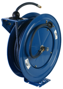 Single pedestal air/water reel
