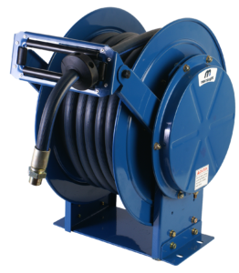 Twin pedestal compressed air/water reel