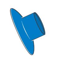 Slimline Splashguard Blue