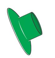 Slimline Splashguard Green