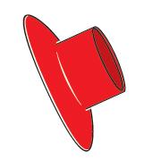 Slimline Splashguard Red