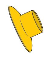 Slimline Splashguard Yellow